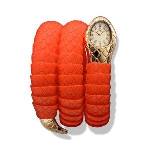 Orologio Wintex Serpe Gomma arancione - Gioielleria Senatore - www.gioielleriasenatore.it