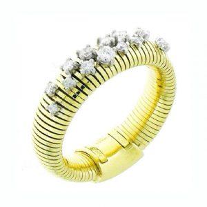 Anello Chimento Stardust oro giallo e bianco e diamanti - Gioielleria Senatore - www.gioielleriasenatore