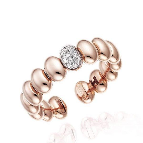 Anello Chimento oro rosa e diamanti - Gioielleria Senatore - www.gioielleriasenatore