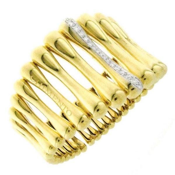 Bracciale Chimento Bamboo Over oro giallo e bianco - Gioielleria Senatore - www.gioielleriasenatore