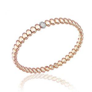 Bracciale Chimento oro bicolore e diamanti - Gioielleria Senatore - www.gioielleriasenatore